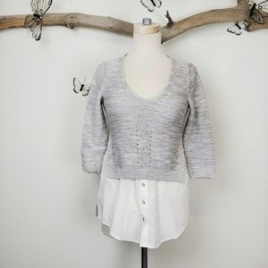 Anthropologie moth faux layered sweater shirt